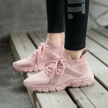 Liren 2019 Summer Fashion Casual Women Sport Shoes Comfortable Breathable Vulcanize Lace-up Flat Heels for
