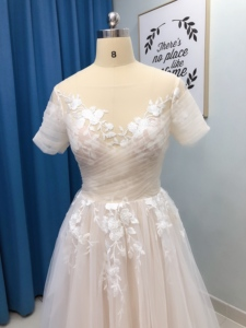 Image 4 - Vintage Sheer Lace Floral Boho Wedding Dress with Sleeve Pockets A line Hippie Bridal Gowns Summer Beach Wedding Dresses Country