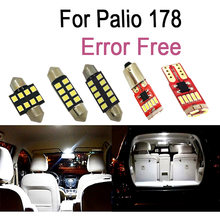 7pc x Canbus Error Free LED bulbs Interior inside Reading lights kit For 2002-2011 Fiat Palio 178 Accessories Dome Map lamp