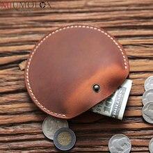 Кошелек для мелочи маленький кошелек из натуральной кожи с застежкой