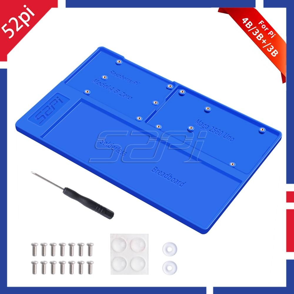 52Pi Original ABS Experiment Holder Platform DIY Kit For Raspberry Pi 4B / 3B+ / 3B / 2B / B+, Zero/W Arduino Uno, Mega 2560