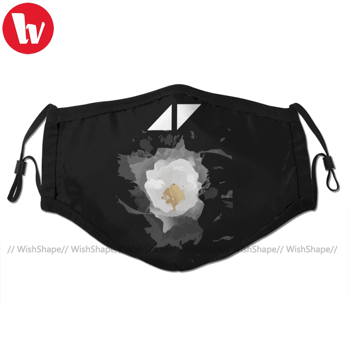Avicii Mouth Face Mask Avicii Music The Flower Facial Mask Fashion Cool With 2 Filters For Adult