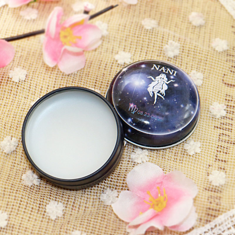 High Quality NANI 12  Zodiac Sign Compact Scented Body Balm Skin Care Cream Flower Perfume Essential