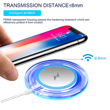 10W Fast Wireless Charger Qi Charging Pad Cellphones & Telecommunications