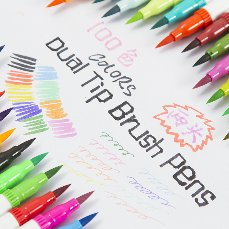 72-Colors-Dual-Tip-Brush-Marker-Pens-Pastel-Watercolor-Pen-Fine-liner-Art-Supplies-for-Drawing
