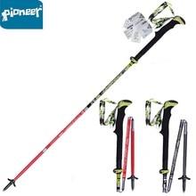 2pcs Carbon Fiber Trekking Poles Ultralight Folding Collapsible Trail Running Hiking Walking Sticks Lightweight Canes