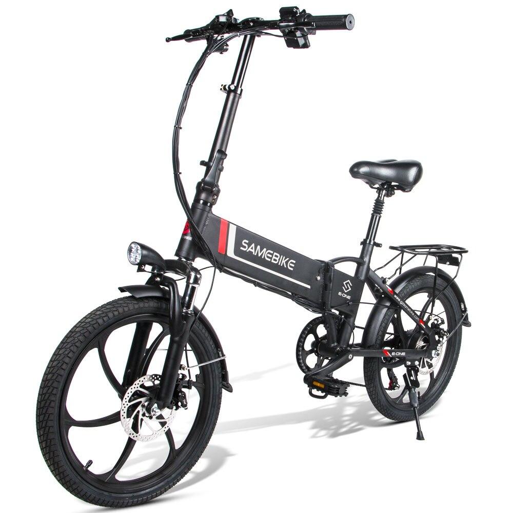 "Samebike 20LVXD30 20"" 48V 8AH 350W 25km/h Electric Bicycle Aluminum Alloy Foldable Electric E-Bike 30-40km Mileage 7 Speeds"