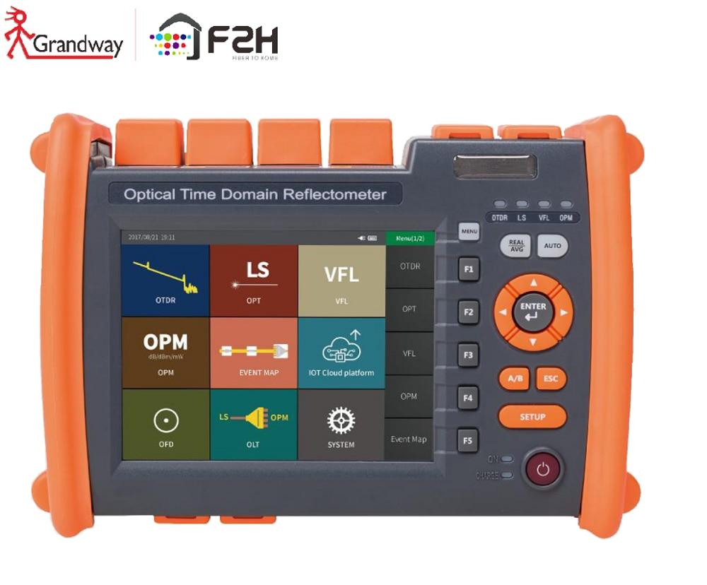 F2H 1310/1550nm 32/30 DB Built-in Visual Fault Locator (VFL) & Power Meter (PM)& Laser Source SM Optical Fiber OTDR Tester