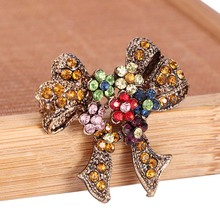 Lovely Bow Brooches For Women Christmas Suit Pins Vintage Creative Gift Jewelry Coat Dress Accessories Fashion