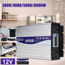 цена на Inverter 12V 220V 3000/4000/5000W/6000W Voltage transformer Pure Sine Wave Power Inverter DC12V to AC 220V Converter LED Display