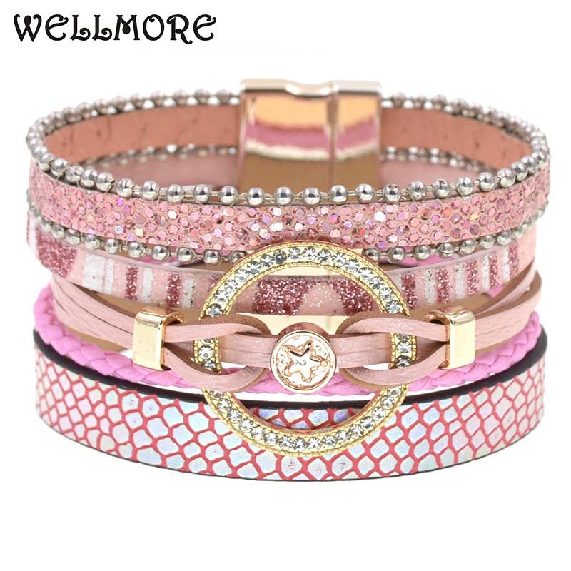 Charm Leather Bracelets For Women Trendy Boho bracelet Multilayer Wrap Bracelet women Female Jewelry