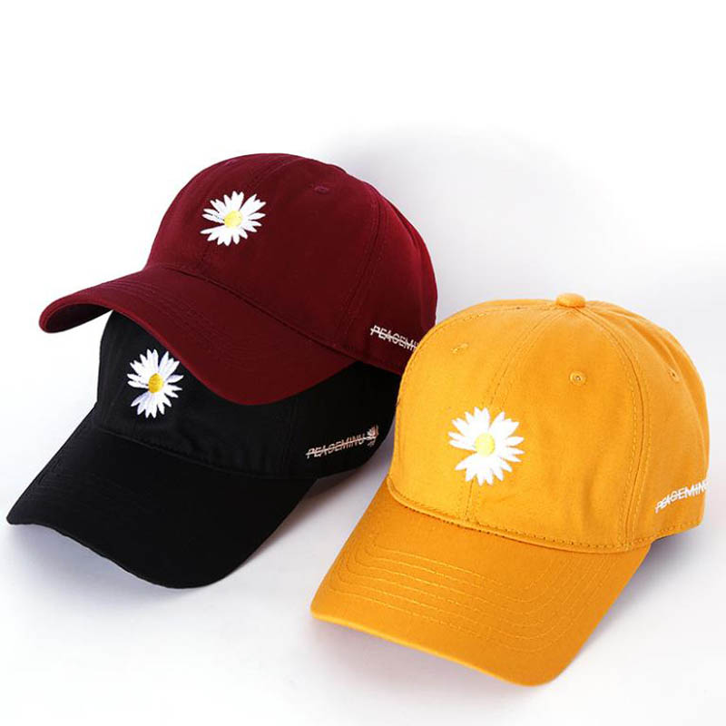 Doitbest 2020 Little Daisies Baseball Cap Hat For Women Men Spring Summer Embroidery Outdoor Lady Girls Sports Caps Snapback