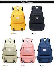 Fengdong moda żółty plecak dzieci torby szkolne dla dziewczynek wodoodporny oxford duży szkolny plecak dla nastolatków tornister tanie tanio 0 7kg Waterproof Oxford Fabric 44cm FD-5018-1 13cm 30cm girls school bags women travle backpack female laptop backpack yellow backpack