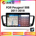 Автомагнитола JMCQ T9 RDS DSP 4 Гб + 64 Гб мультимедийный видеоплеер для Peugeot 508 2011 2012 2013-2018 2 din Android 9,0 зеркальное соединение