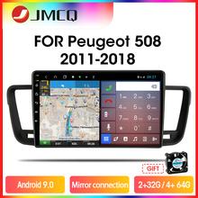 Jmcq t9 rds dsp 4g + 64g rádio do carro reprodutor de vídeo multimídia para peugeot 508 2011 2012 2013-2018 2 din android 9.0 conexão espelho
