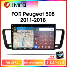 Video-Player Multimedia Car-Radio DSP RDS JMCQ Android 9.0 Peugeot 508 2 for Mirror-Connection