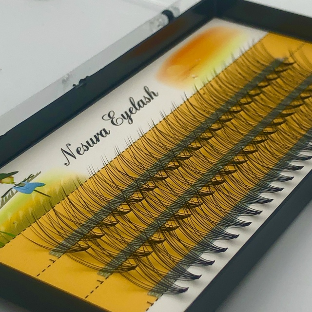60 pcs Mink Eyelashes Extension Natural 3D Russian  Volume Faux Eyelashes Individual 10D Cluster Lashes Makeup Cilia 2
