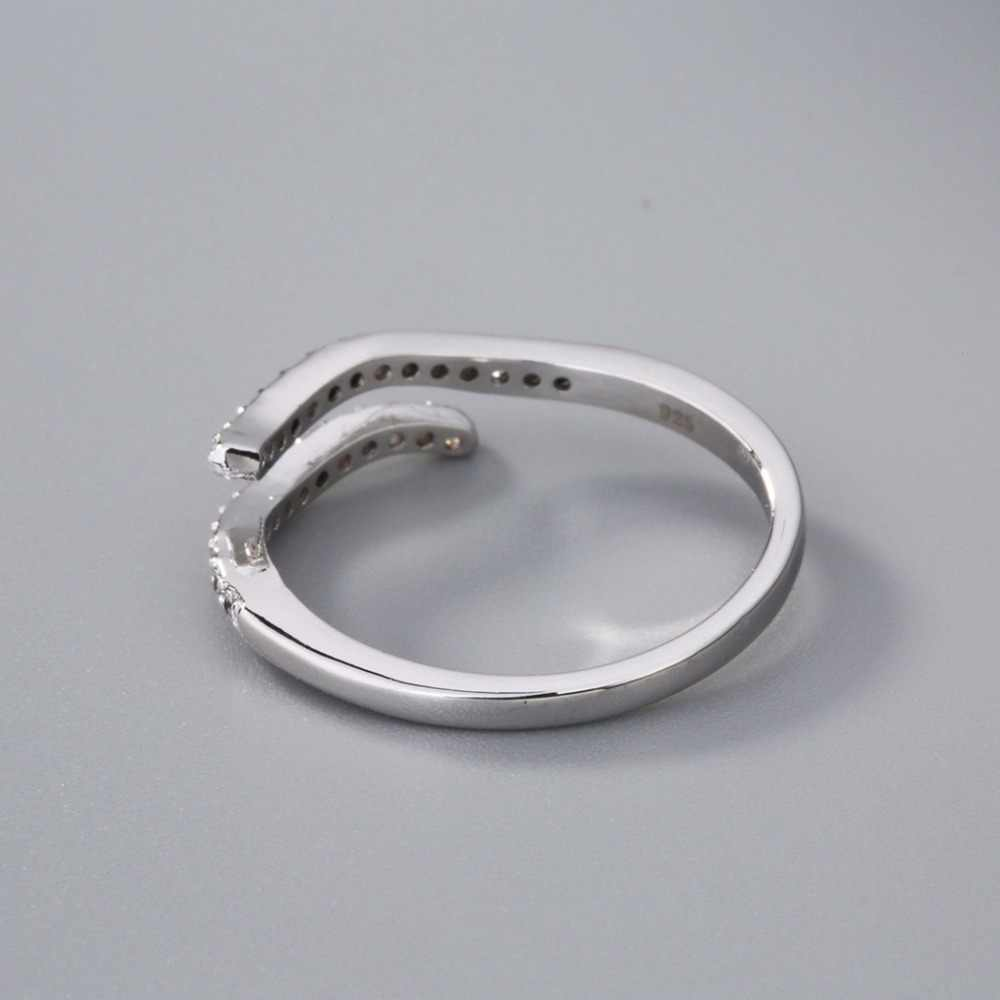 Подарок на день рождения Водолей волна Звезда Созвездие кольца женские Зодиак циркон кольцо талисман для девушки Рождественская вечеринка ювелирные изделия