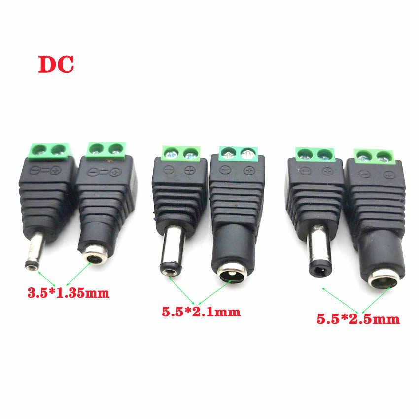Man Vrouw Dc Power Plug Connector 2.1Mm X 5.5Mm 2.5Mm X 5.5Mm 1.35Mm X 3.5mm Hoeft Niet Lassen Dc Plug Adapter 12V 24V Voor Cctv