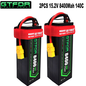 GTFDR 2PCS lipo battery 2S 3S 4S 7.6V 11.4v 15.2v 11.1V 8400mah 6500mah 80C 160C 140C 280C hardcase For 1/8 car Helicopter Car