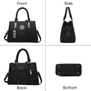Image 2 - ใหม่เย็บปักถักร้อยไหล่กระเป๋าแฟชั่นสีMessengerหญิงTotes Crossbodyกระเป๋าผู้หญิงหนังกระเป๋าถือ