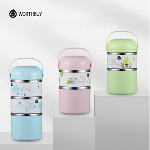 Image 5 - WORTHBUY Cute Japanese Thermal Lunch Box Leak Proof Stainless Steel Bento Box For Kids Portable Picnic School Food Container Box