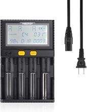 Smart  LCD USB Battery Charger for  for Li-ion/IMR/INR/ICR/Ni-MH/Ni-Cd/LiFePO4 battery 3.7v 4 Slots nitecore intellicharger i8 8 channel multi slot 5v usb smart charger for li ion ni cd ni mh imr battery