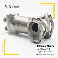 ティト titanium 自転車ステム Mtb 自転車ステムマウンテンロードハンドルバー自転車ステム 25.4 ミリメートル/31.8 ミリメートル × 長さ 50 /60/70/80/90/100/110/120 ミリメートル