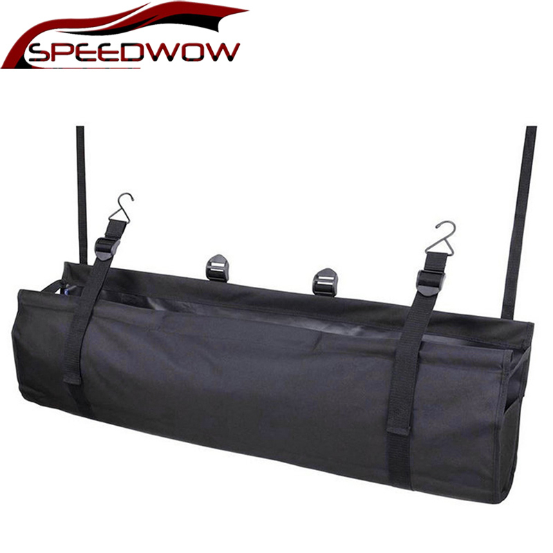 SPEEDWOW Universal Auto Vehicle Large Capacity Trunk Storage Boot Organiser Container Adjustable Oxford Storage Backseat Bag
