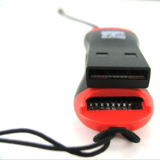 Best Price 2PCS USB 2.0 Micro SD SDHC TF Flash Memory Card Reader Mini Adapter For Laptop 0.35