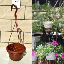 Chain-Basket Planter-Holder Flower-Pots Hanging-Planter Balcony-Decor Succulent-Plants