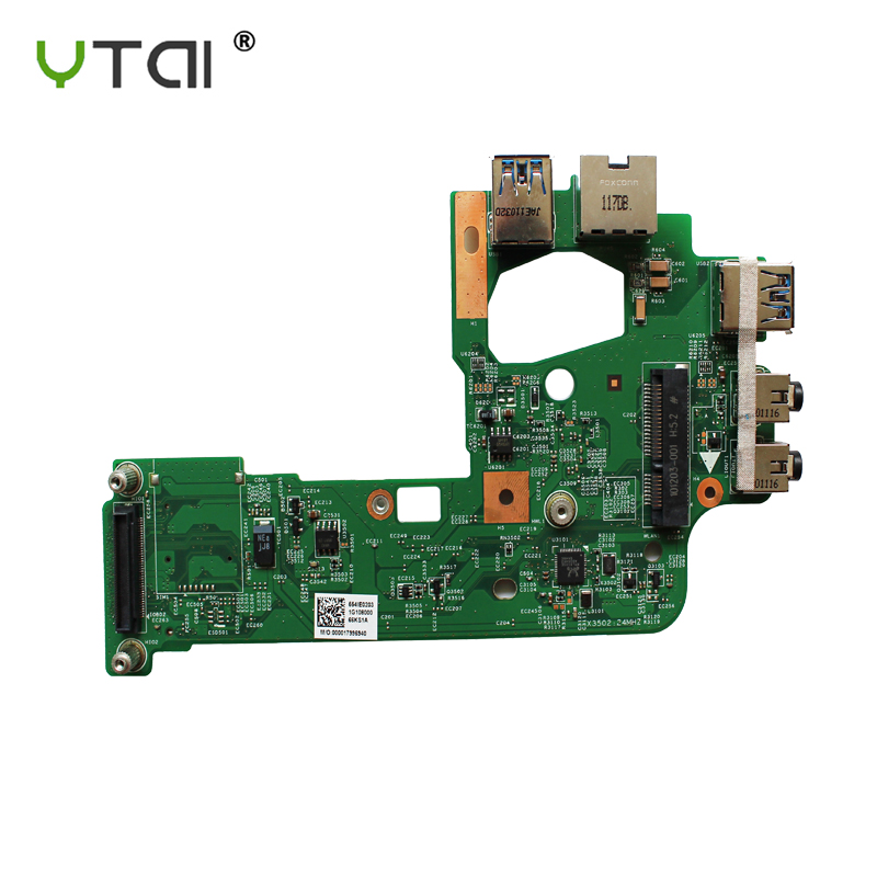 New For Dell N5110 AUDIO USB 3.0 Port LAN Ethernet Card 48.4IF04.011 48.1IE14.011 Full Tested Free Shipping
