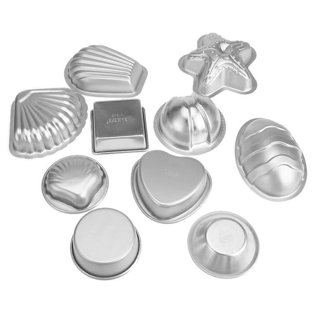 2Pcs/set Aluminium Alloy 3D Bath Bomb Molds DIY Tool Salt Ball Homemade Crafting Mould Semicircle Sphere Shell Bath Accessories 2