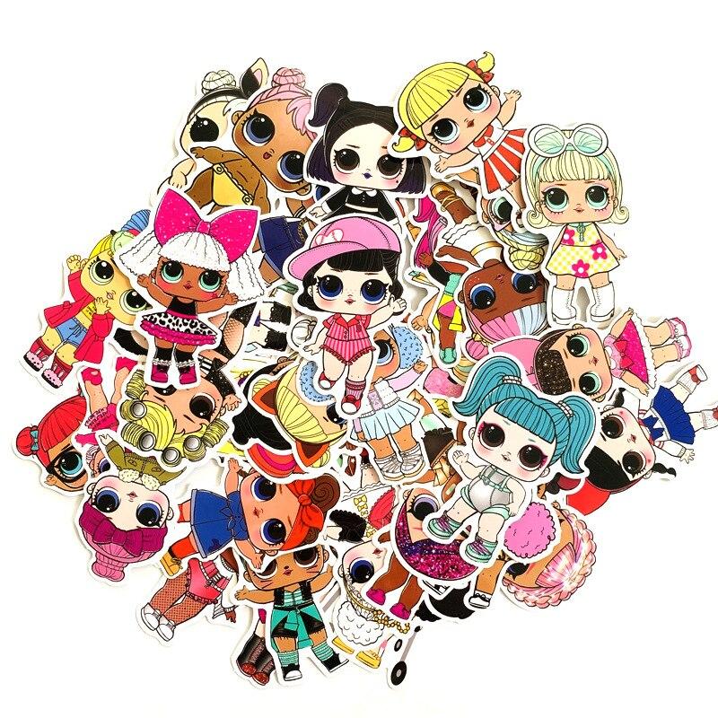 50pcs LOL Stickers 2019  Waterproof Personality Lol Doll Stickers Children's PVC Graffiti Stickers Suitcase Car Boot Guitar