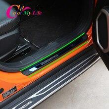 Цвет моя жизнь 4 шт./компл. из нержавеющей стали порог пластины для Jeep Renegade 2015-2020 аксессуары для автомобильных дверей Силла пластины Крышка о...