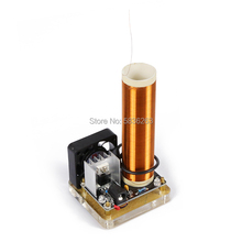DIY Small Music Tesla Coil Kit 24V Low Power Plasma DIY Board Set Electronics DIY Speaker Can Play Mobile Phone Computer Music 500w high power tesla arc generator ac 220 v music plasma speaker electronic component speaker diy mini tesla personalized gift