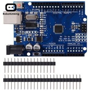 Image 1 - Carte de développement UNO R3 ATmega328P CH340 CH340G pour Arduino UNO R3 avec tête de broche droite