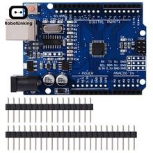 UNO R3 geliştirme kurulu ATmega328P CH340 CH340G Arduino UNO için R3 düz Pin başlığı