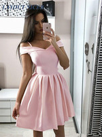 Modern Pink Homecoming Dresses V Neck A Line Draped Short Prom Gown Mini Special Occasion Dress Cheap Party Cocktail Gowns Vesti