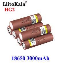 Liitokala quente novo original 3.7v 18650 hg2 3000mah baterias recarregáveis de lítio descarga contínua 30a para ferramentas elétricas do zangão