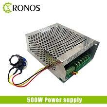 Fonte de alimentação do eixo 500w, fonte de alimentação do eixo 220v 110v mach3 6a 50/60hz, motor cnc ajustável alimentação de comutação