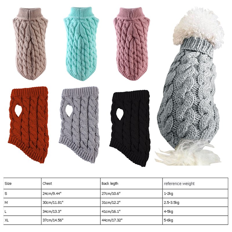 US $1.98 |1Pc Winter Dog Sweater Small Dog Clothes Puppy Sweater For Pet Dog Knitting Crochet Cloth Christmas Dog Sweater Decoration|Dog Sweaters|
