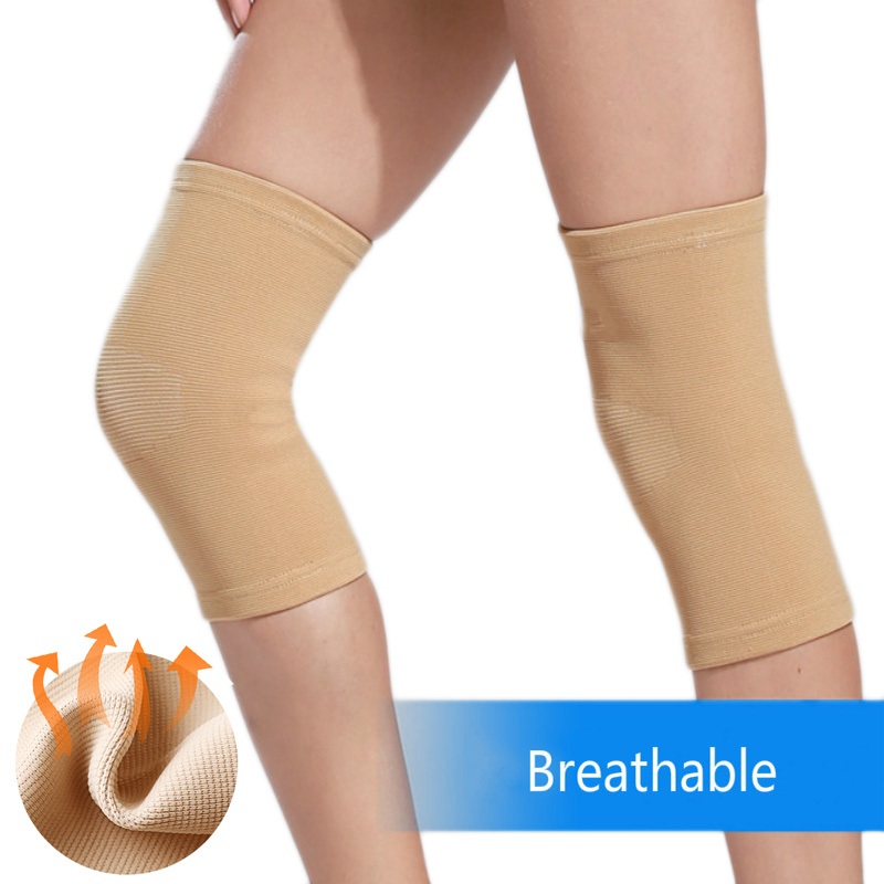 2pcs High Elasticity Knee Sleeve Protector Arthritis Injury Brace Support Gym Fitness Sport Compression Women Bandage Knee Pads