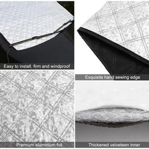 Image 4 - Car Windshield Sunshade Dust Cover Automobiles Rain Ice Snow Protector Anti Heat Front Window Car SUV Cover Parasol Coche