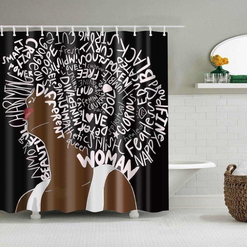 africano design cortina de chuveiro