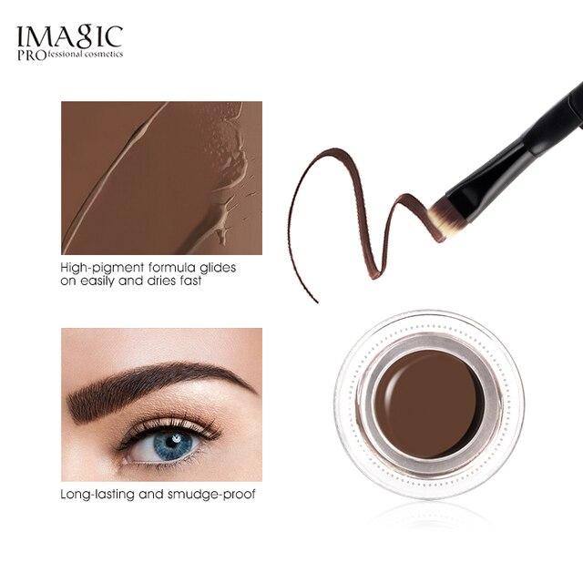 IMAGIC 6 Color Eyebrow Tint Makeup Waterproof Eyebrow Pomade Gel Enhancer Cosmetic Eye Makeup Eye Brow Cream 2