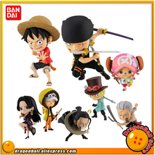 """Een Stuk"" Bandai Adverge Motion Stampede Collection Figuur Luffy Zoro Wet Sabo Hancock Tony Tony Chopper Roker krokodil"