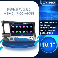 HD 9/10 inch android 8.1 car radio head unit for Honda Civic 8 FK FN FD 2006-2011 car DSP stereo multimedia player 2+32GB/4+64GB