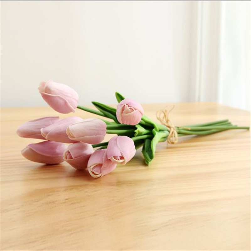 1PC PU Mini Tulips Artificial Flowers For Home And Wedding Decoration Flowers 53