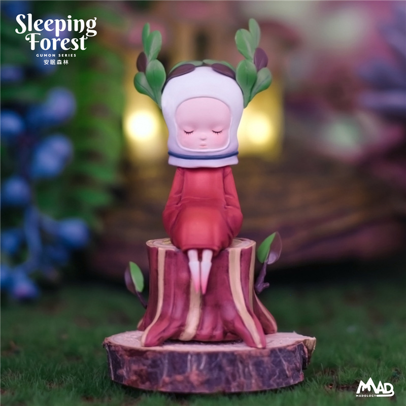 Madology Gumon Valley Mushroom Blind Box First Bomb Sleeping Forest Yuan Liu Works Tide Play Garage Kit Decoration